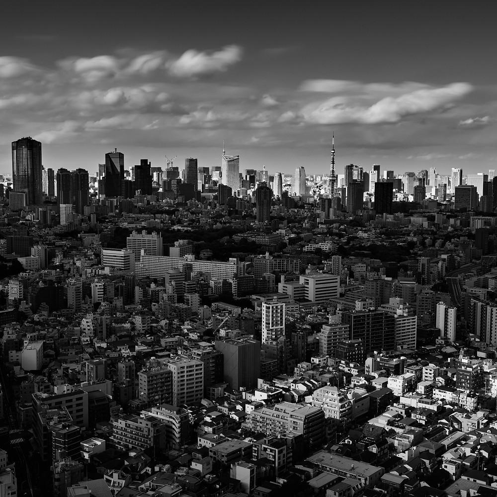 Tokyo cityscape from Ebisu, Tokyo, Japan