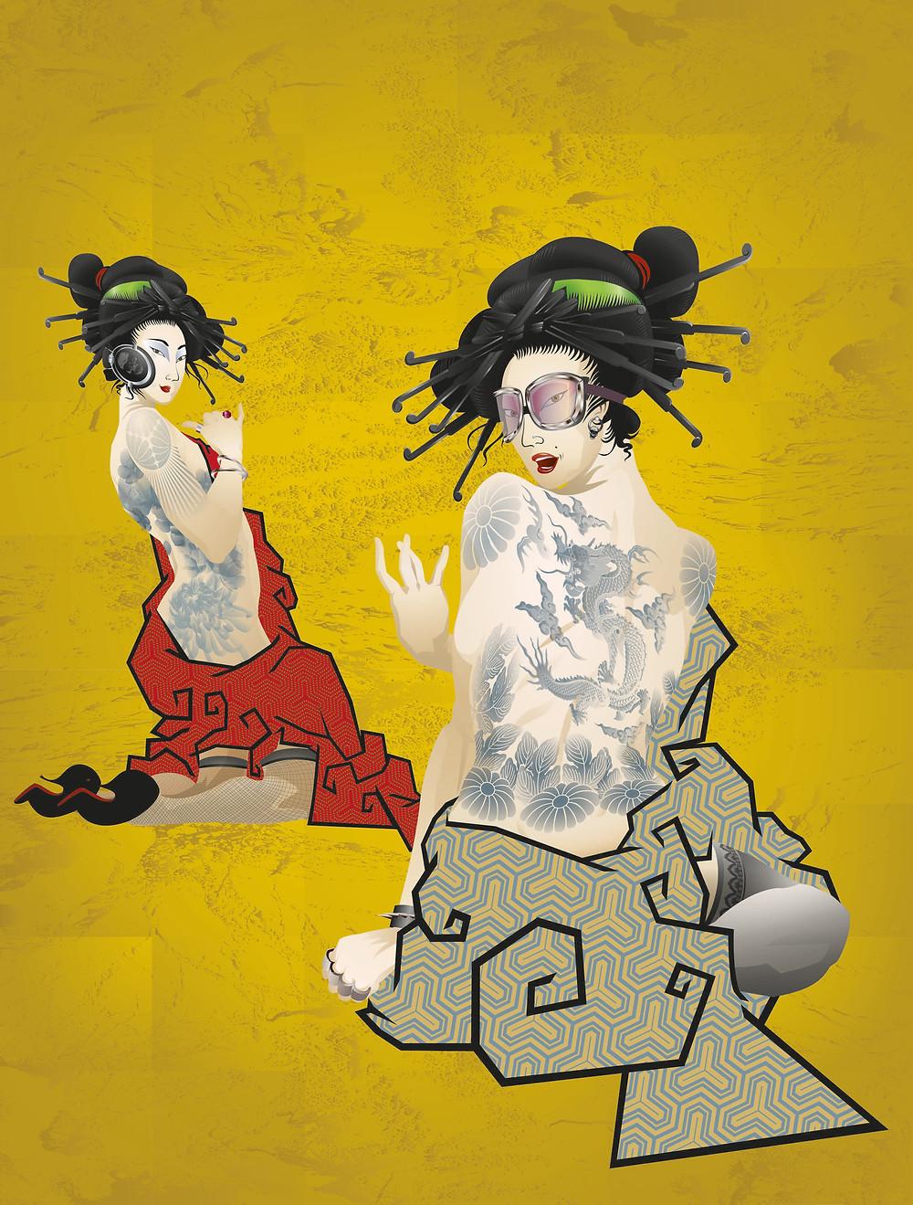 """Geisha Girls"" by Booda Brand, 2013"