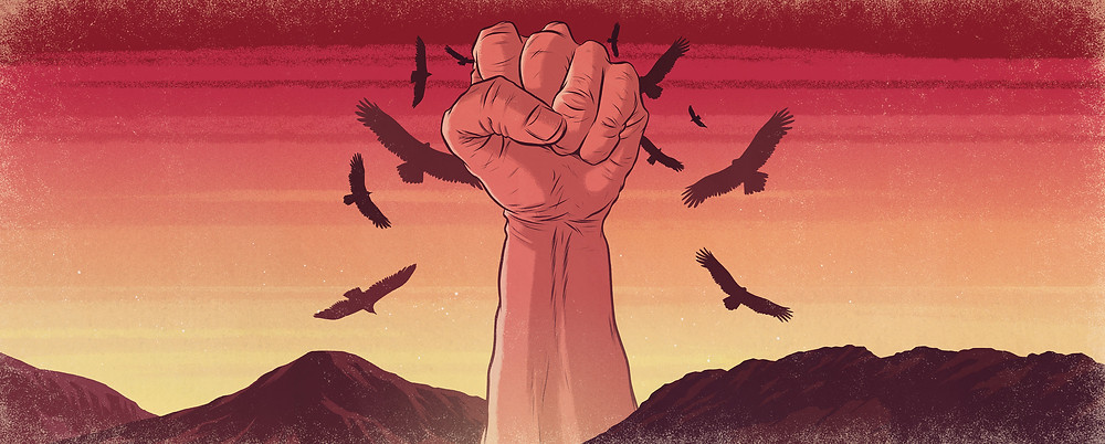 """Fistful - """"Fistful Of Pale"""" - An illustration for a new pale ale from a craft brewing company."""