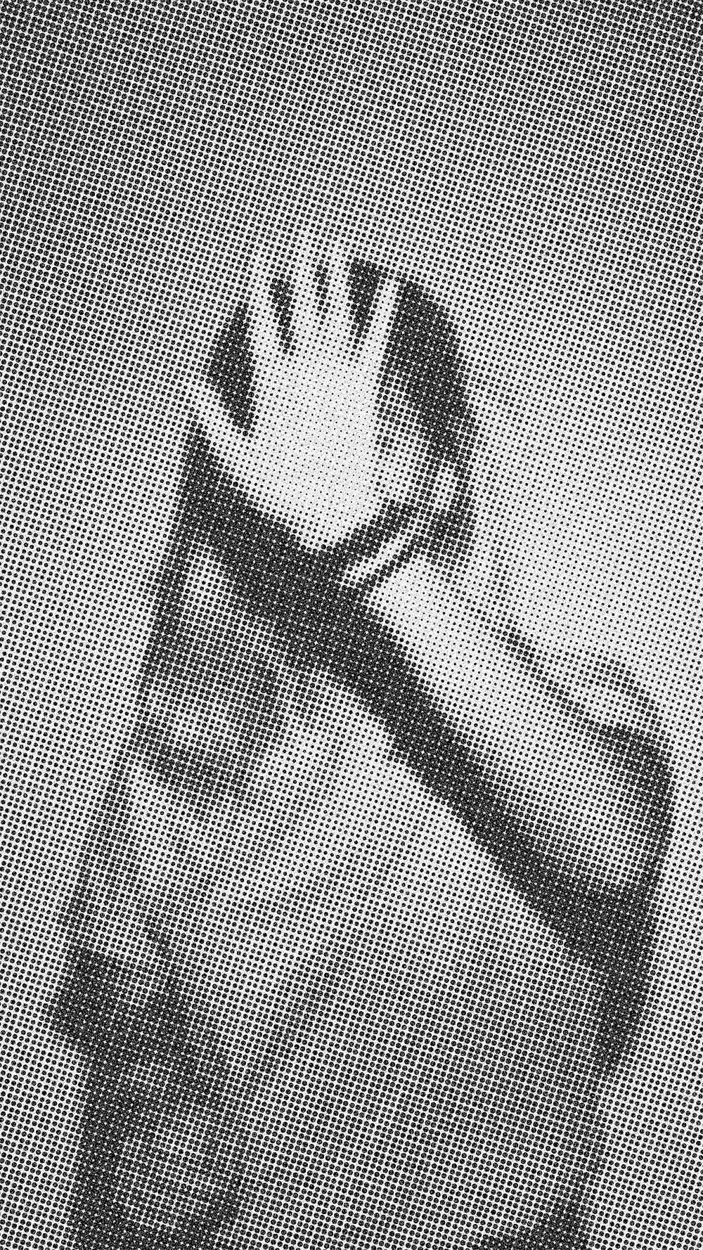 """This photo called """"meio-ton-to"""" represents my first attempt to work with photography and design (another passion of mine), using a photo I took in studio from a girlfriend of mine along with this halftone effect."""