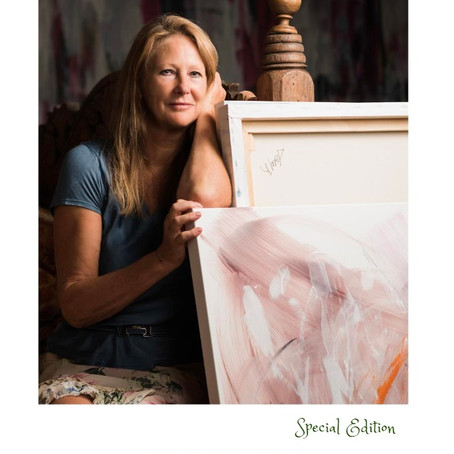 Abstract painter Michelle Hold