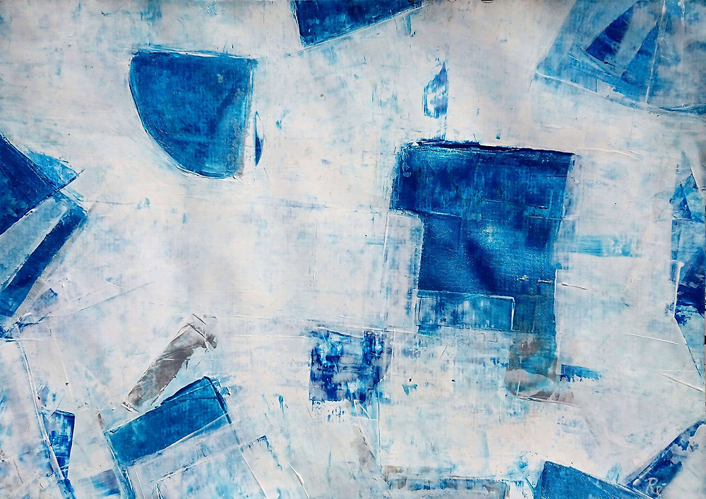 """"""" le vent blanc"""" From the series """"galerie blanche"""" Acryl painting on paper"""