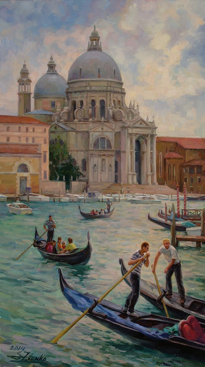 Grand canal, Venice. 70x40cm, oil on can
