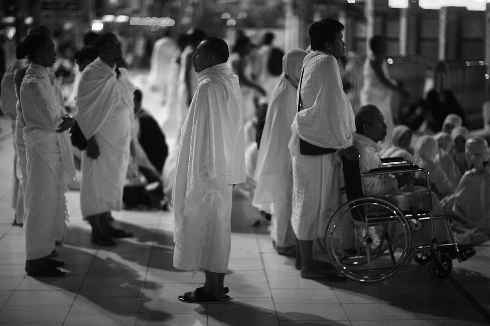 Indonesians again ! Umrah pilgrims.  April 29, 12:34 am. — in Mecca, Saudi Arabia.