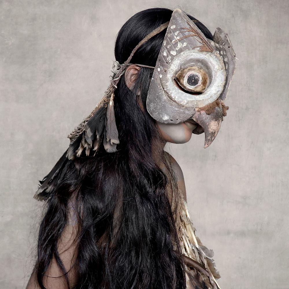 Young Woman with Owl Mask, Sunda Islands, 2013