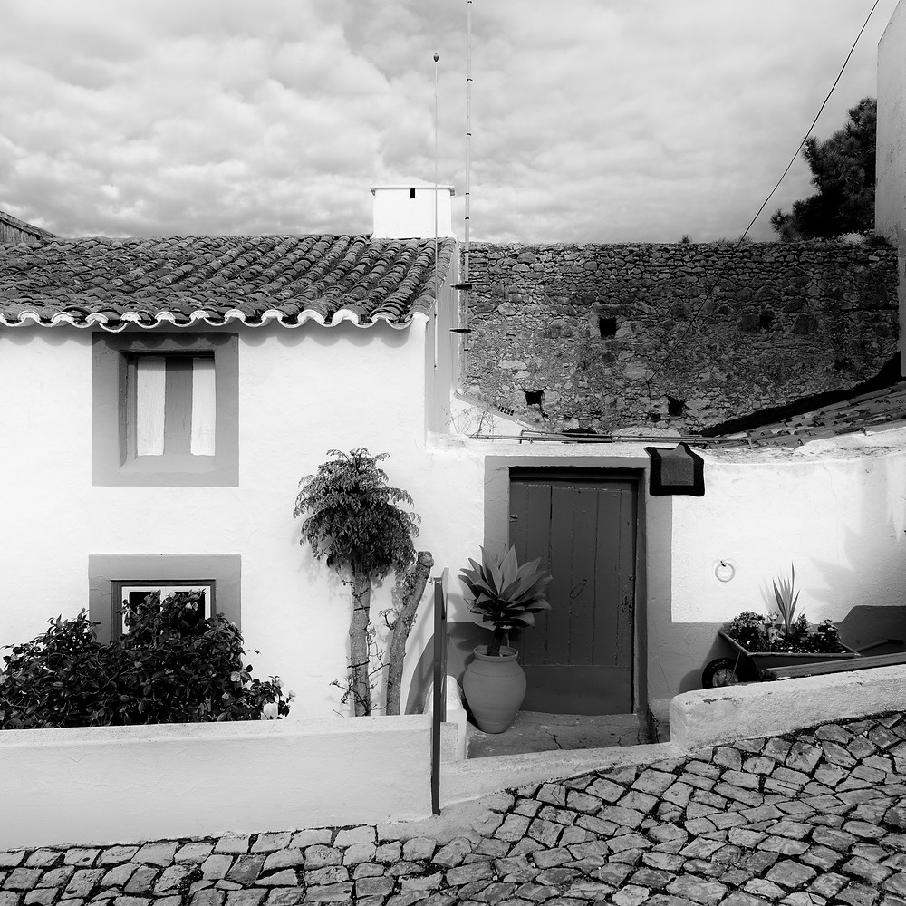 Dwelling in Nazare  A humble abode not far from a popular lookout area overseeing Nazare and beach.