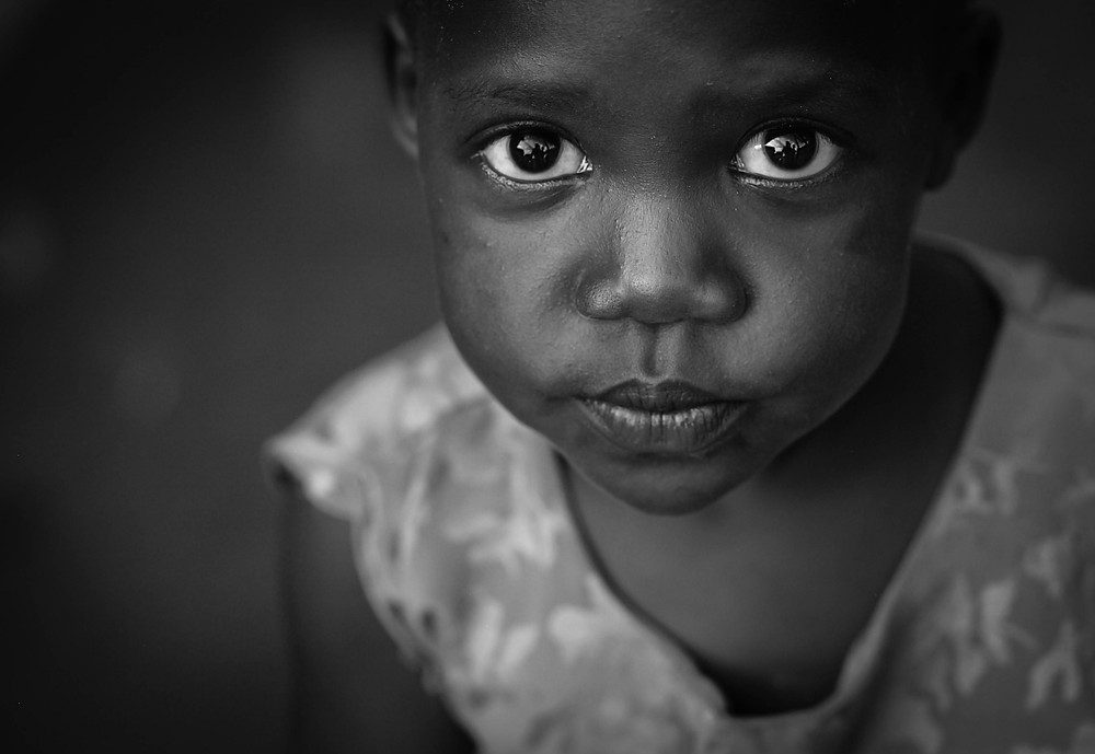 Portrait of a young girl living in Buggala island, Kalangala district, on Vitoria Lake, Uganda.