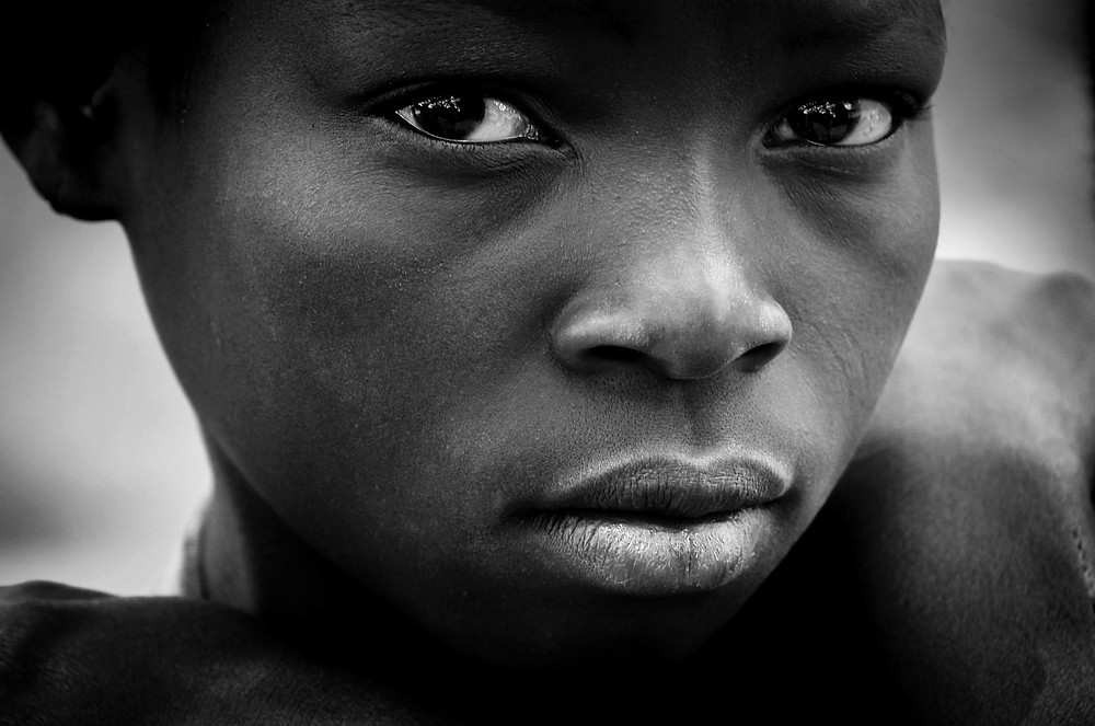 Portrait of a teenage girl in Monkey Bay, Malawi.