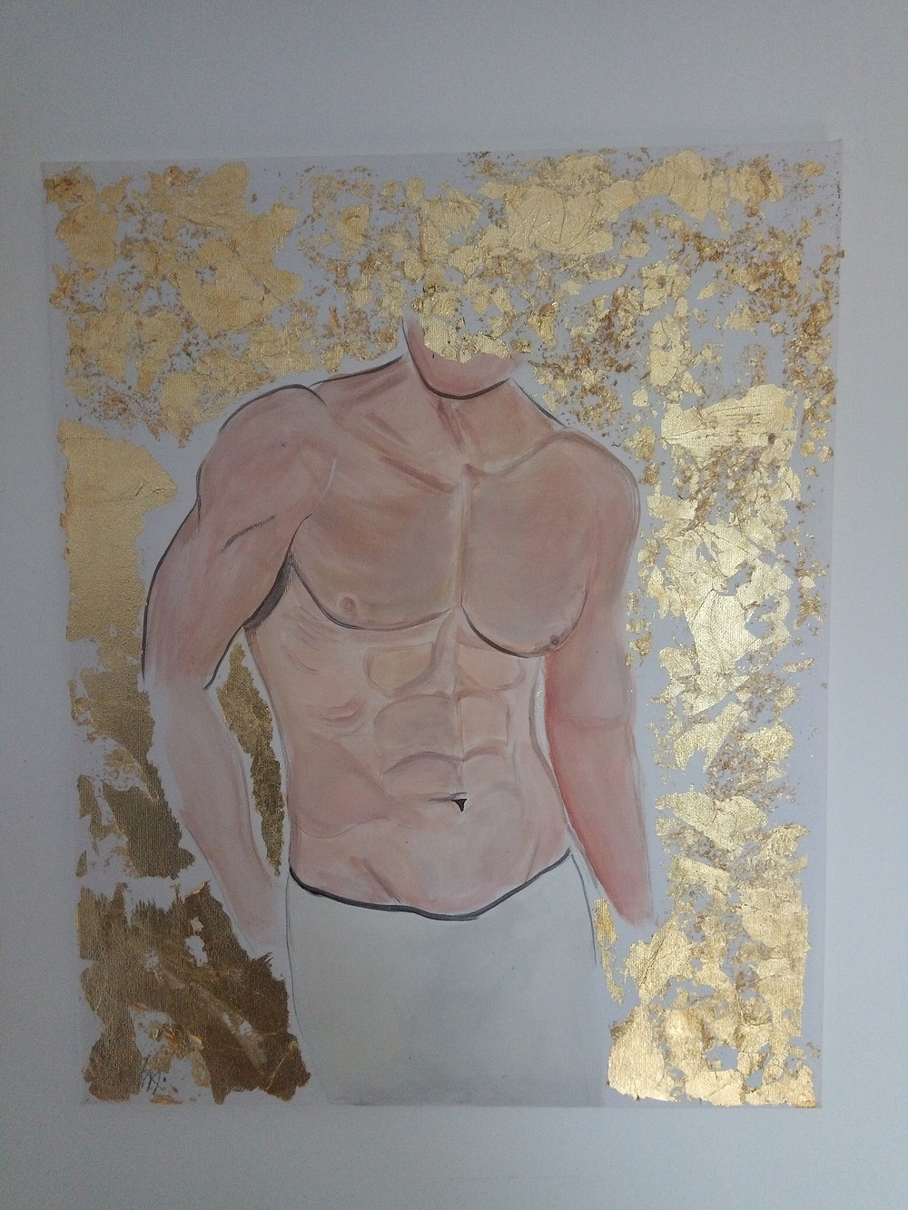 Divine: Goldleaf and Acrylic