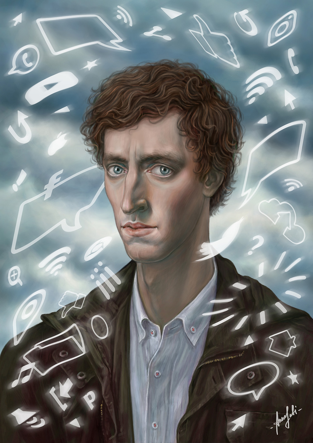 ' Richard ' Digital artwork of Richard Hendricks (Thomas Middleditch) from TV show: Silicon Valley.