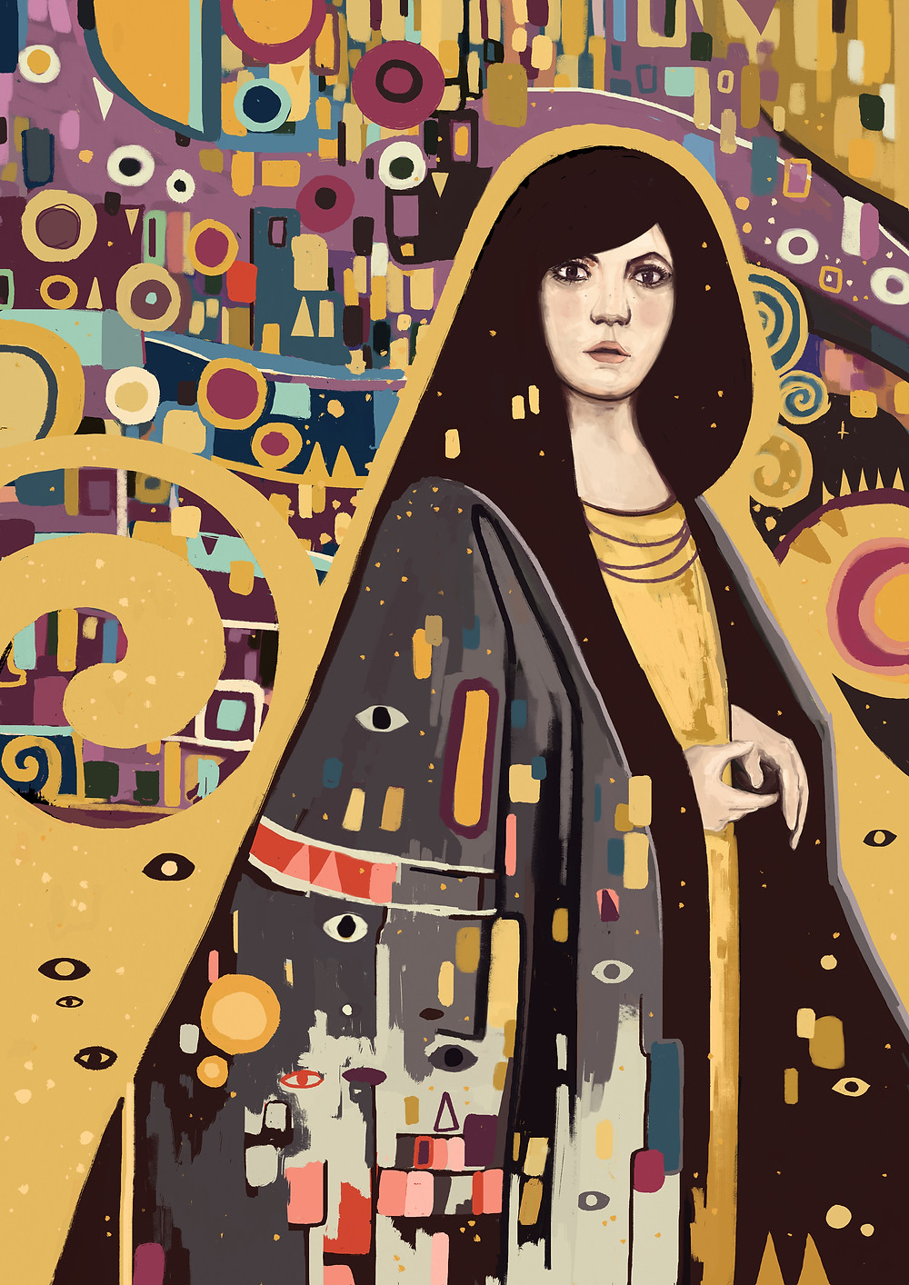sarah - Last winter I had the chance to see Gustav Klimts paintings in Vienna. This illustration is a tribute to Gustav Klimt - one of my biggest inspiration.
