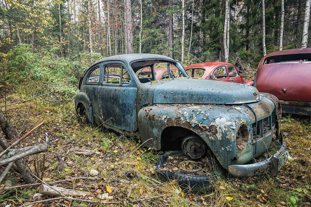 VOLVO: Captured on a cargraveyard in sweden wich was full of classic US Cars and some old volvos.