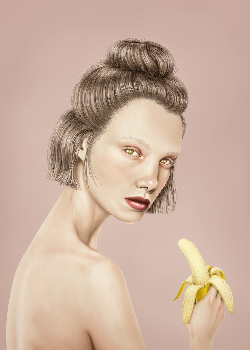 No, it's a banana. Sometimes a woman just wants to sit naked and eat her damn banana in peace. It's a bloody fruit and a great snack for those hangry moments.
