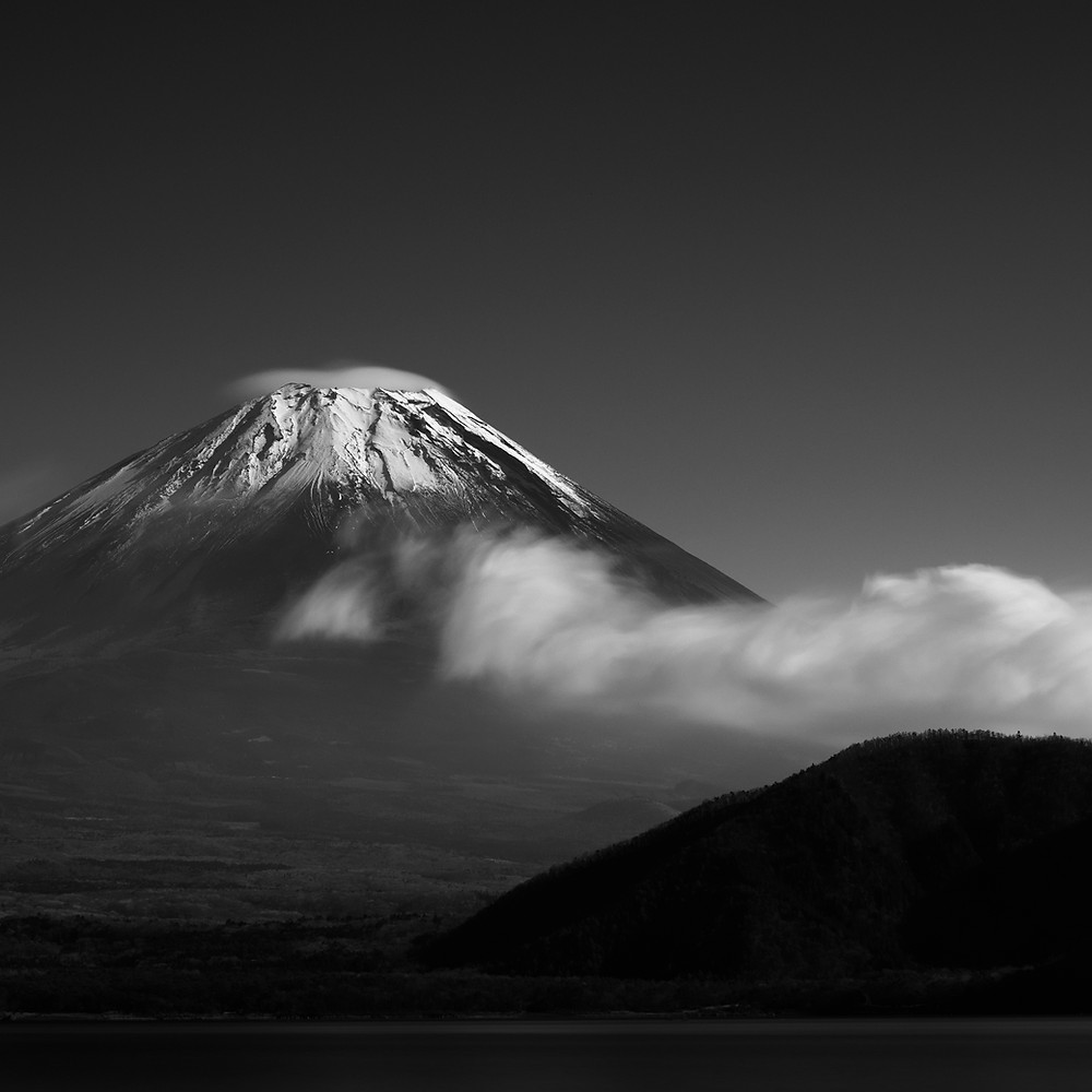 Mount Fuji from lake Motosu