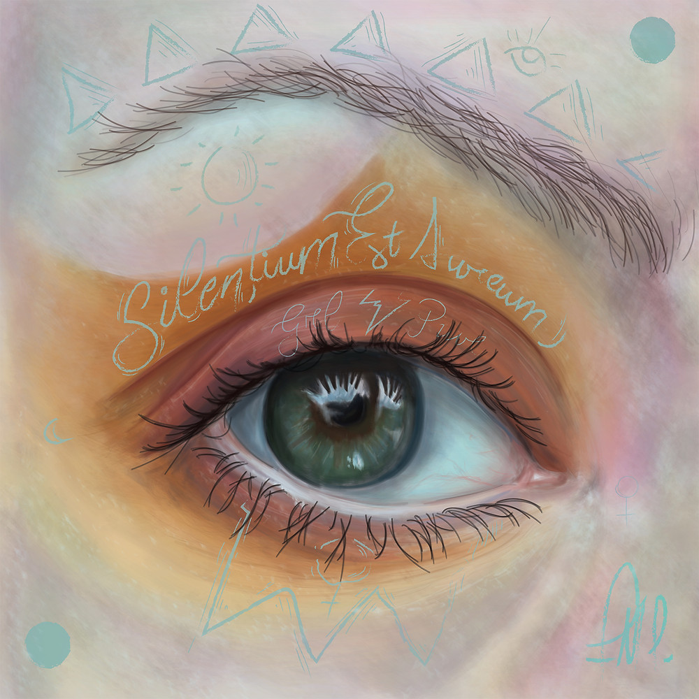 Yellow III - Is an eye study that follows a whole collection that intend to flert with realism, through digital painting, the strength and beauty of women that is synthetized on their eyes in all different shapes, colors and intentions at firts sight.