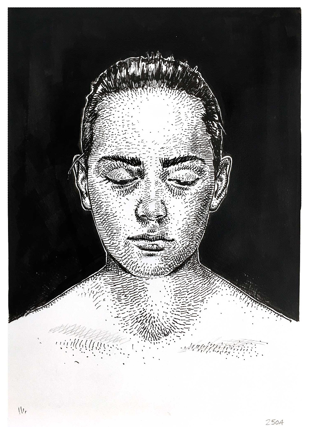 Dario Moschetta 250A-M ink on paper 21x29cm 109 euros