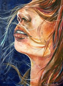 'The wind' Oil & acrylic on 80x60 cm canvas