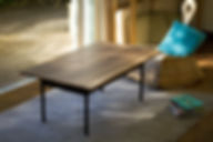 table basse, design, meuble, mobilier, biarritz, pays basque, noyer, couleur,