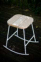 Tabouret, design, meuble, mobilier, biarritz, pays basque, frêne ,décoration, exterieure