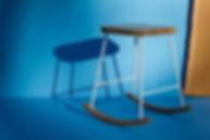 Tabouret, design, meuble, mobilier, biarritz, pays basque, noyer, couleur,