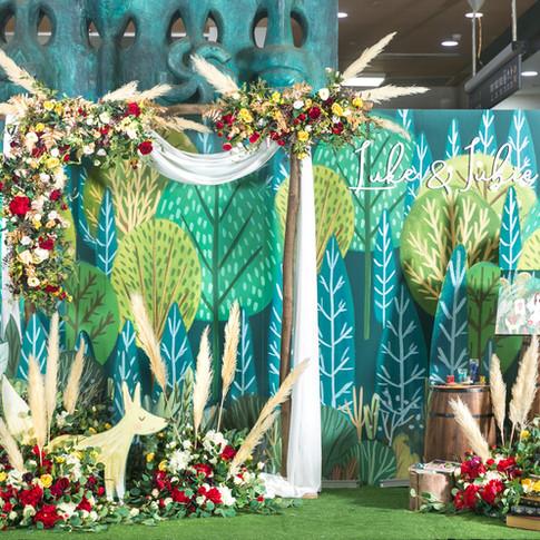 麋鹿小姐 客製婚禮背板套組 l  婚禮佈置  森林系小王子