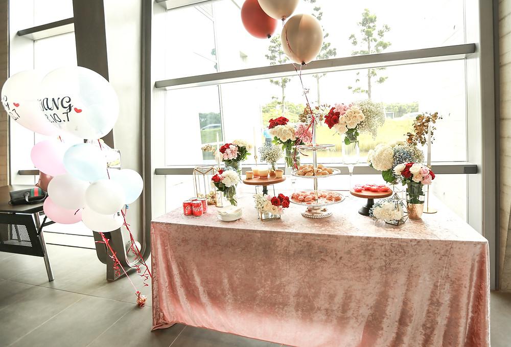點心桌 花藝設計 candybar