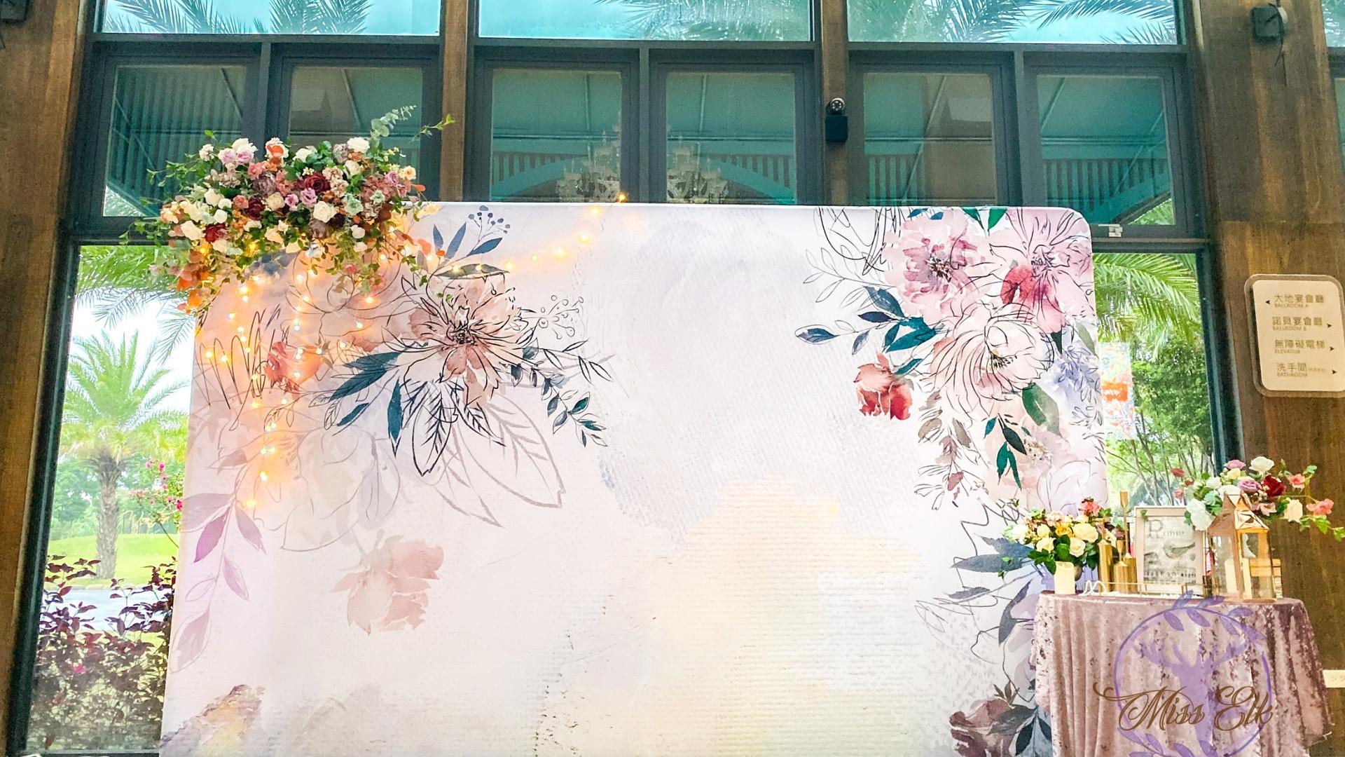 麋鹿小姐 婚禮背板出租l 恬靜畫室