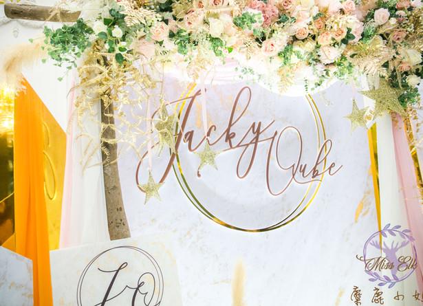 麋鹿小姐 公版婚禮背板套組 l  婚禮佈置  巴洛克莊園
