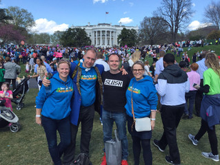 Polkuni at the White House USA, supporting Fun Academy