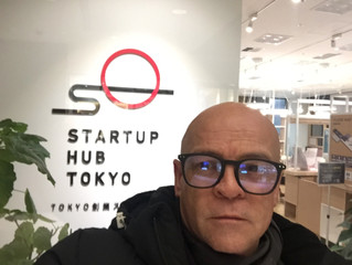 Polkuni in Tokyo startup event....during the coldest weather for 35 years !!!