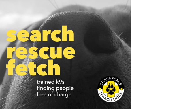Chesapeake Search Dogs Awareness Campaign
