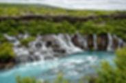 Hraunfossar waterfall in Iceland.jpg