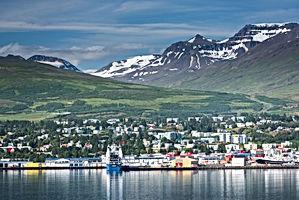 Beautiful landscapes in Akureyri, Icelan