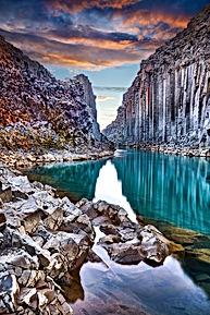 Studlagil basalt canyon, Jokulsa a Dal R