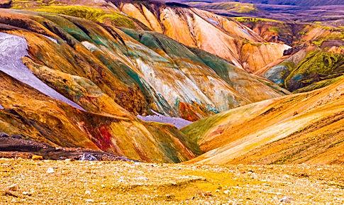 Colorful mountains at Landmannalaugar -