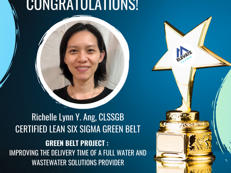 Our newest Certified Lean Six Sigma Green Belt! Richelle Lynn Y. Ang, CLSSGB