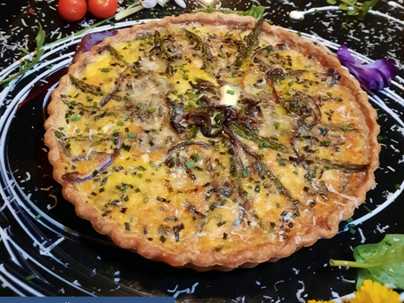 Recipe: Asparagus, Red Onion & Blue Cheese Tart. A taste of early Spring at The Church, Letterkenny.