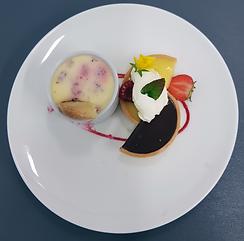 Chocolate tart and lemon tart at The Chu