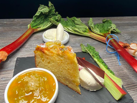 Recipe: Rhubarb and Orange Drizzle Cake - Mums and Memories at The Church