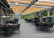 The terrace at The Church Restaurant, Bar and Café, Letterkenny, County Donegal, Ireland