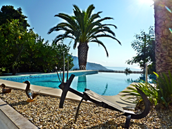 Sculpture, piscine Villa Baïna