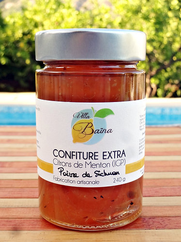 Confiture Extra de citrons de Menton au Poivre Sichuan / Lemon jam with pepper