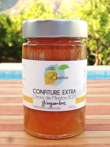Confiture Extra de citrons de Menton au Gingembre / Lemon jam with ginger
