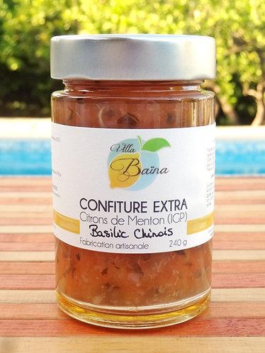 Confiture Extra de citrons de Menton et Basilic Chinois / Lemon jam with Basil