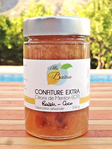 Confiture Extra de citrons de Menton au Raisin & Coco / Lemon jam + coco & raisi