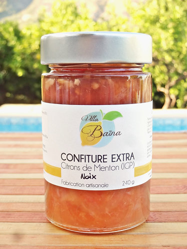 Confiture Extra de citrons de Menton aux Noix / Lemon jam with nuts