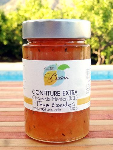 Confiture Extra de citrons de Menton au Thym / Lemon jam with thyme