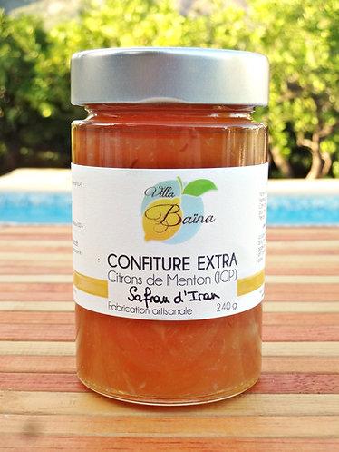 Confiture Extra de citrons de Menton au Safran d'Iran / Lemon jam with saffron