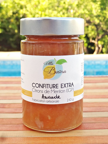 Confiture Extra de citrons de Menton et Amandes / Lemon jam with almonds
