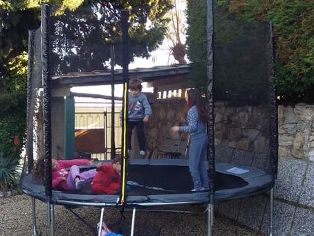 A new trampoline in Villa Baïna